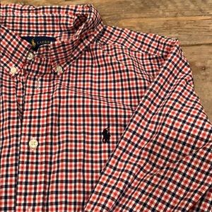 Ralph Lauren Boys long sleeved buttoned down shirt